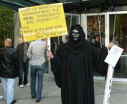 Grim Reaper at Joe Jackson concert, May 5, 2008